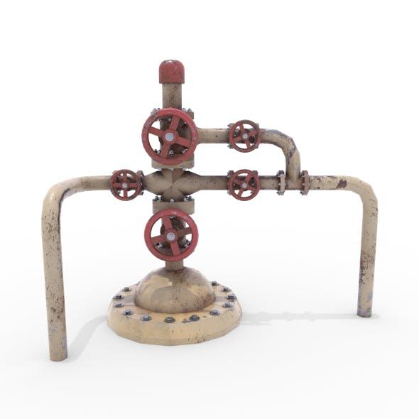 Oil Pumpjack Wellhead Weathered 3 - 3DOcean Item for Sale