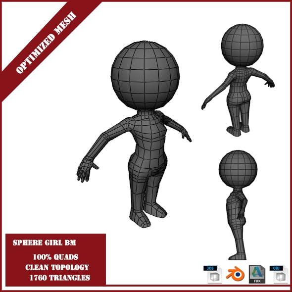 Sphere Girl Base Mesh - 3DOcean Item for Sale
