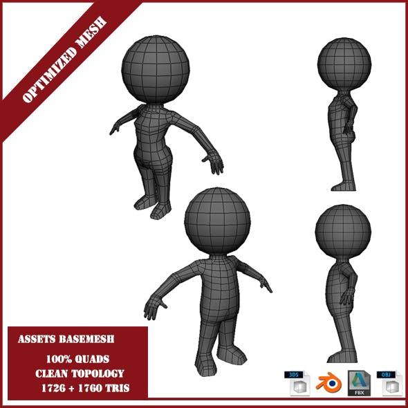 Package Sphere Boy and Girl  Base Mesh - 3DOcean Item for Sale