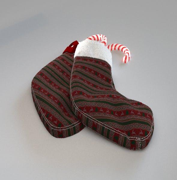 Christmas Sock - 3DOcean Item for Sale