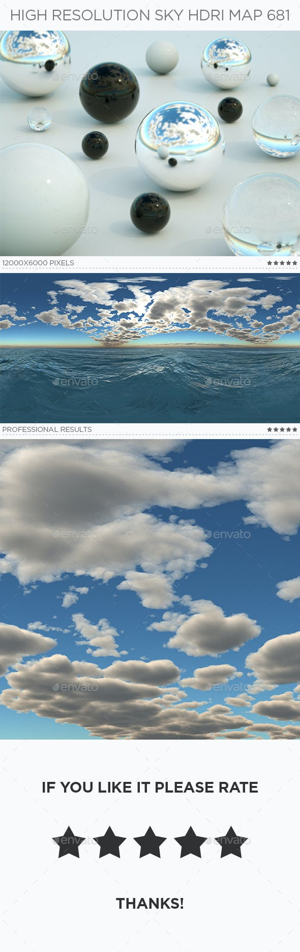 High Resolution Sky HDRi Map 681 - 3DOcean Item for Sale