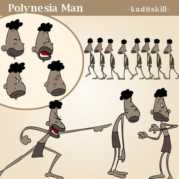 Polynesia Man - 3DOcean Item for Sale