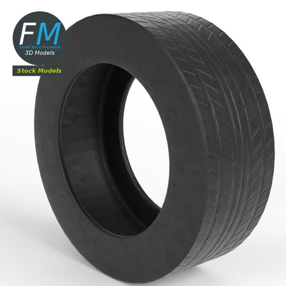Generic car tire - 3DOcean Item for Sale