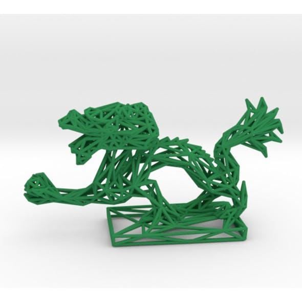 Dragon With Icosahedron