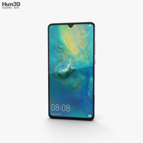 Huawei Mate 20 X Phantom Silver - 3DOcean Item for Sale