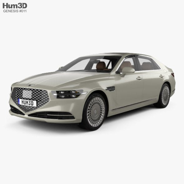 Genesis G90 with HQ interior 2020 - 3DOcean Item for Sale