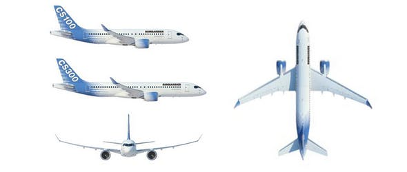 AIRBUS A220 - 3DOcean Item for Sale