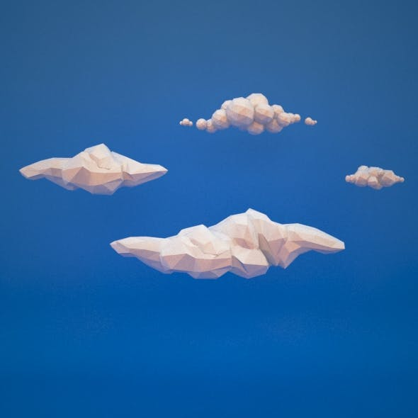 Low Poly Clouds - 3DOcean Item for Sale