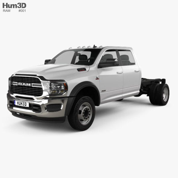 Ram 3500 Crew Cab Chassis SLT 2019 - 3DOcean Item for Sale