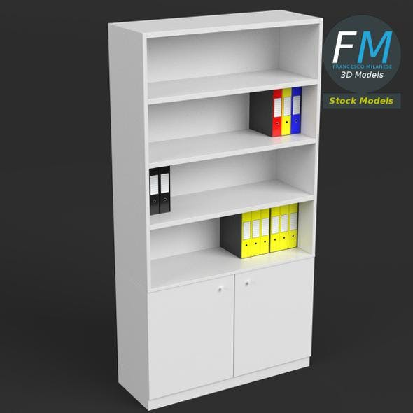 Office Shelf with Ring Binder and Folders - 3DOcean Item for Sale