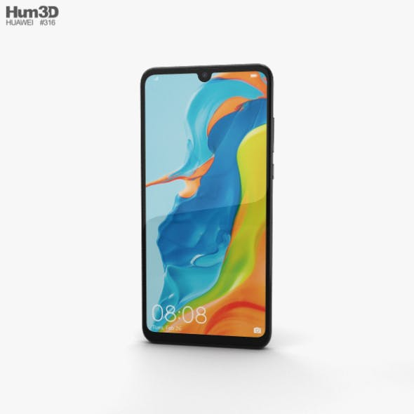 Huawei P30 lite Midnight Black - 3DOcean Item for Sale