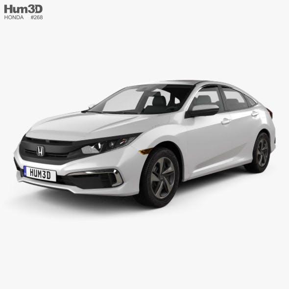 Honda Civic LX sedan 2019 - 3DOcean Item for Sale