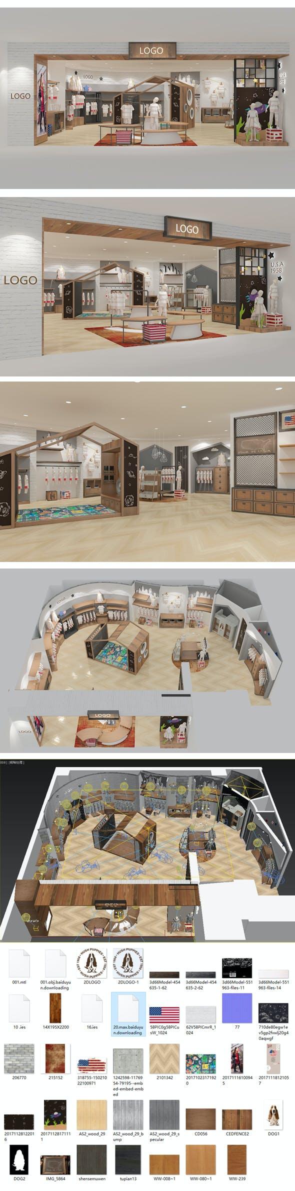Design of children's clothing store - 3DOcean Item for Sale