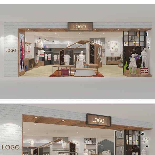 Design of children's clothing store