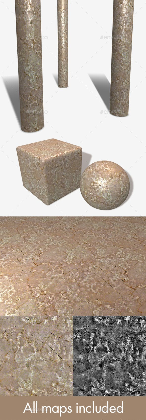 Beige Marble Seamless Texture - 3DOcean Item for Sale
