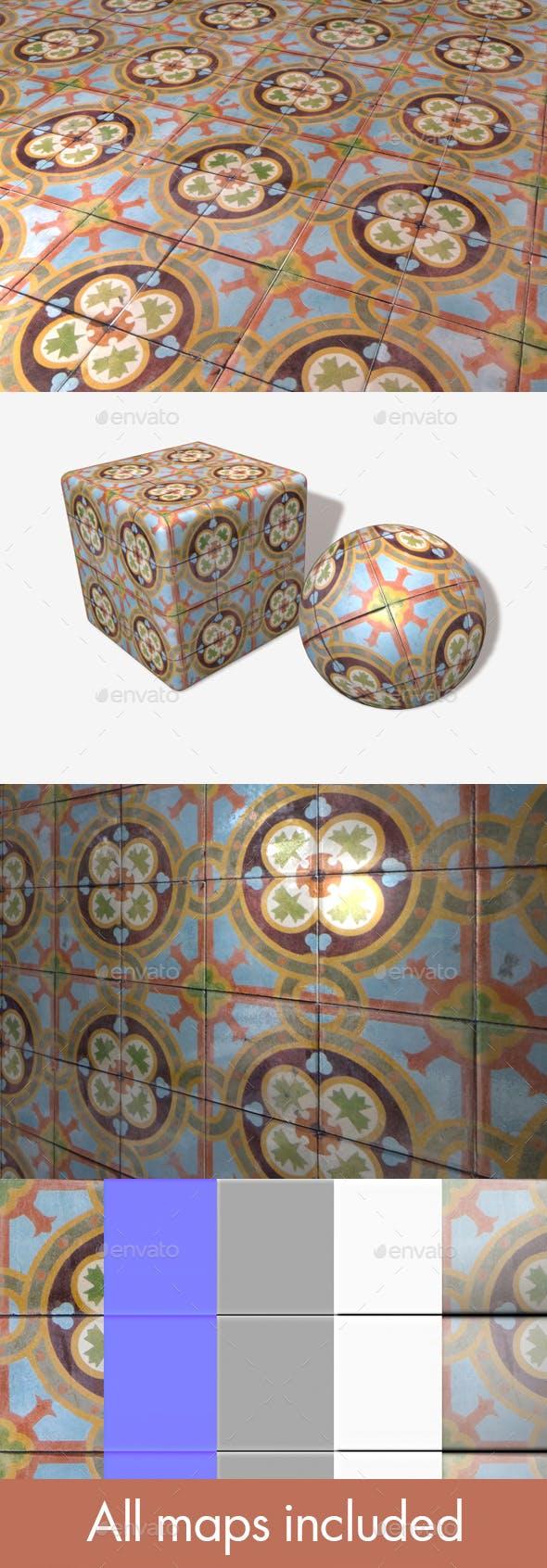Dirty Patterned Floor Tiles Seamless - 3DOcean Item for Sale