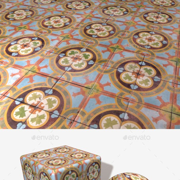 Dirty Patterned Floor Tiles Seamless
