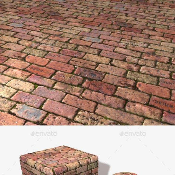Old Rough Mossy Bricks Seamless Texture