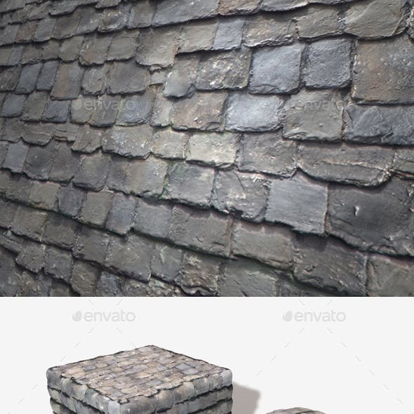 Rustic Roof Tiles Seamless Texture