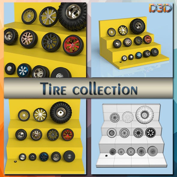 Tire collection - 3DOcean Item for Sale