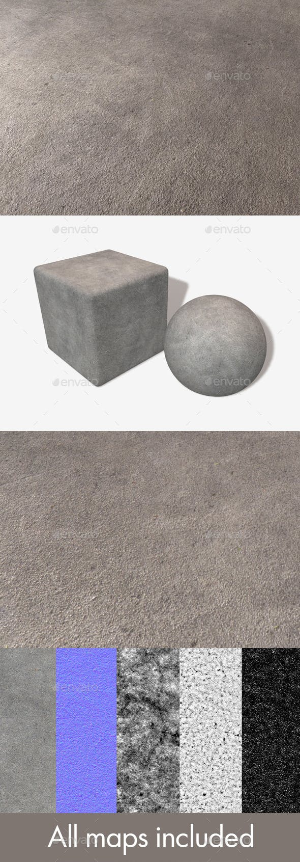 High Angle Concrete Seamless Texture - 3DOcean Item for Sale