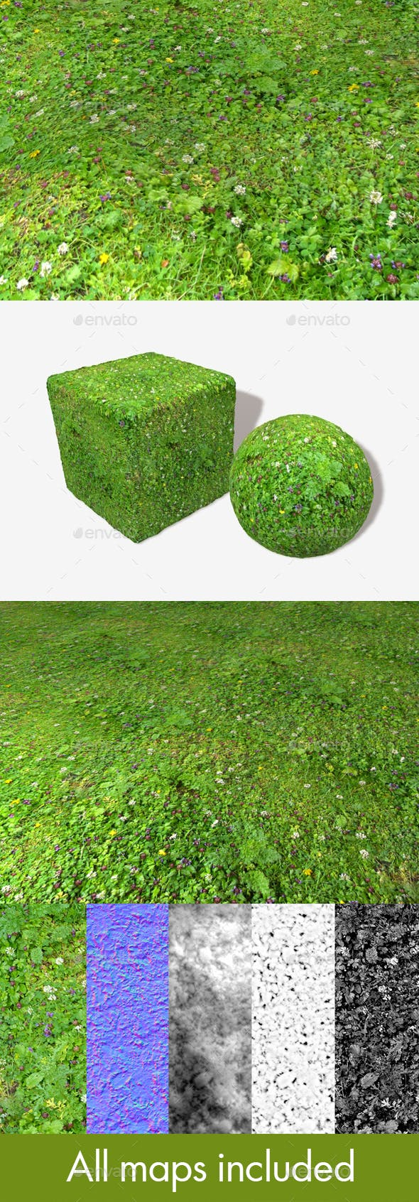 Meadow Flowers Seamless Texture - 3DOcean Item for Sale