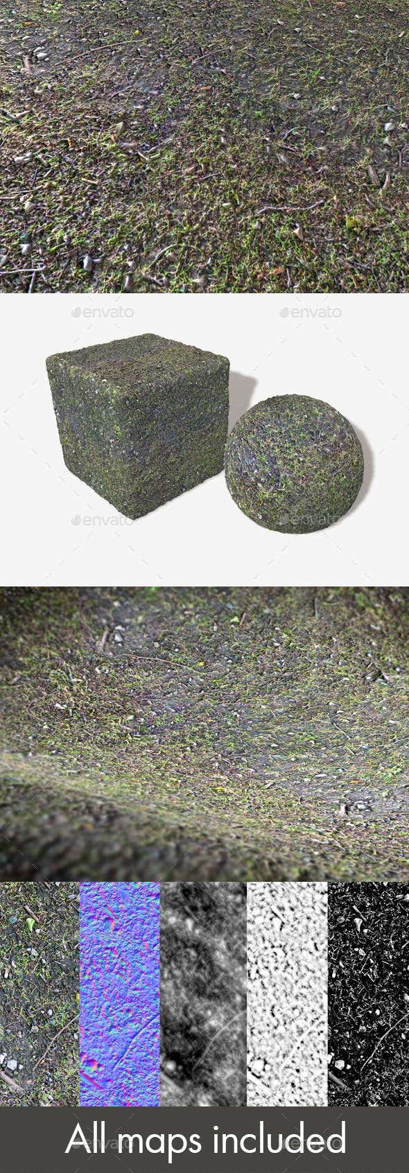 Wet forest Ground Seamless Texture - 3DOcean Item for Sale