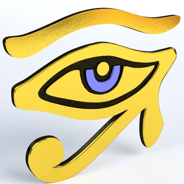 Eye of Horus or Ra - 3DOcean Item for Sale