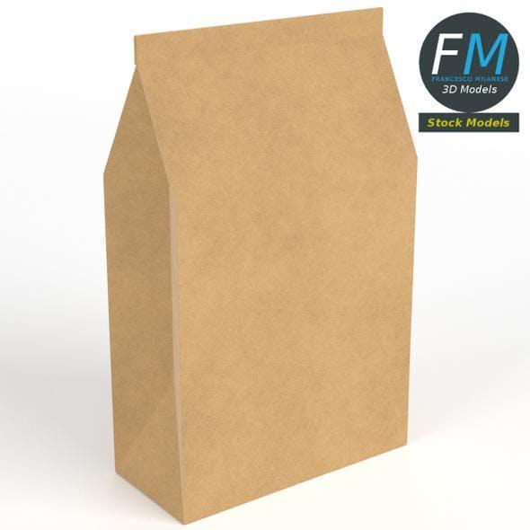 Closed paper bag - 3DOcean Item for Sale