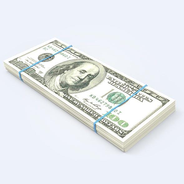 Dollar Stack - 3DOcean Item for Sale