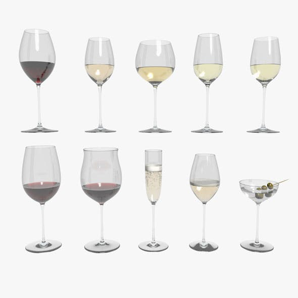 Riedel Superleggero Glases With Wine Collection