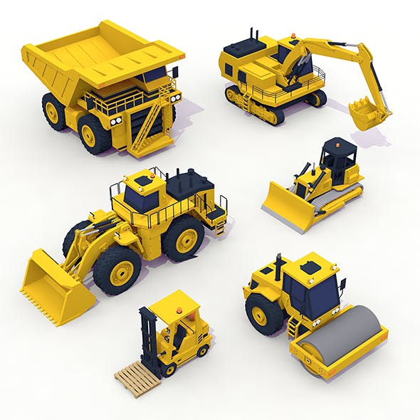 Heavy Machinery Pack - 3DOcean Item for Sale