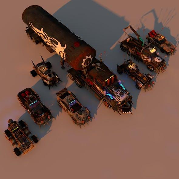 Battle Car Package - 3DOcean Item for Sale