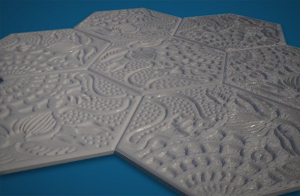 Gaudi´s Paving Stone - 3DOcean Item for Sale