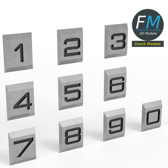 Engraved numbers - 3DOcean Item for Sale