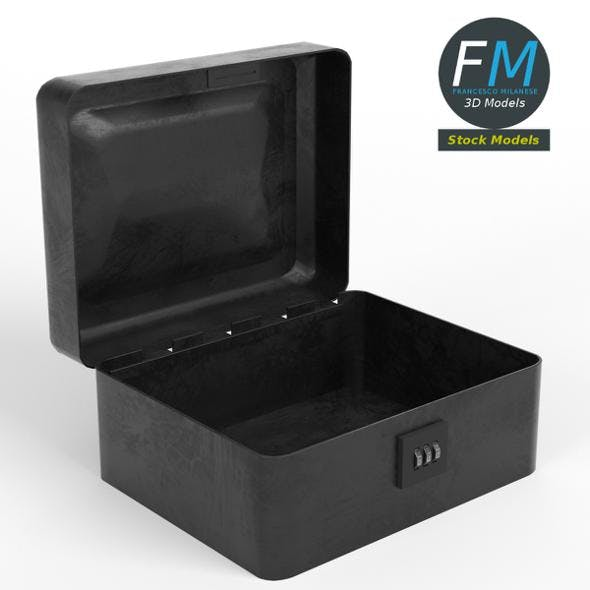 Metallic box with combination lock