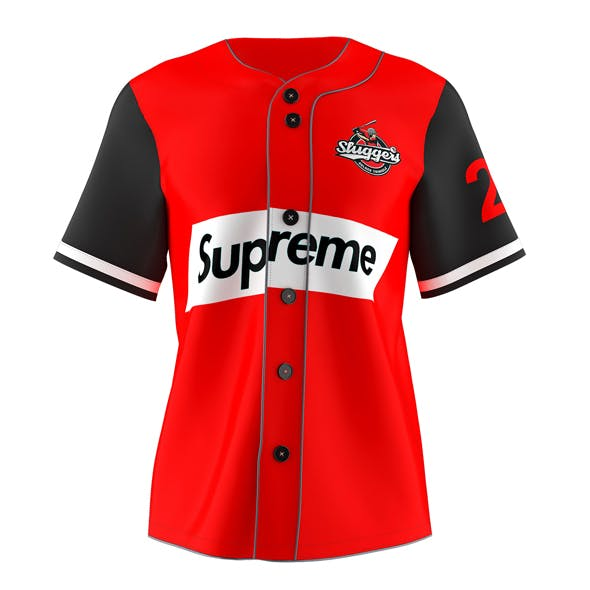 Baseball Jersey 3D model - 3DOcean Item for Sale
