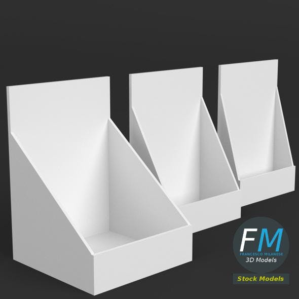 Table top display mockups - 3DOcean Item for Sale