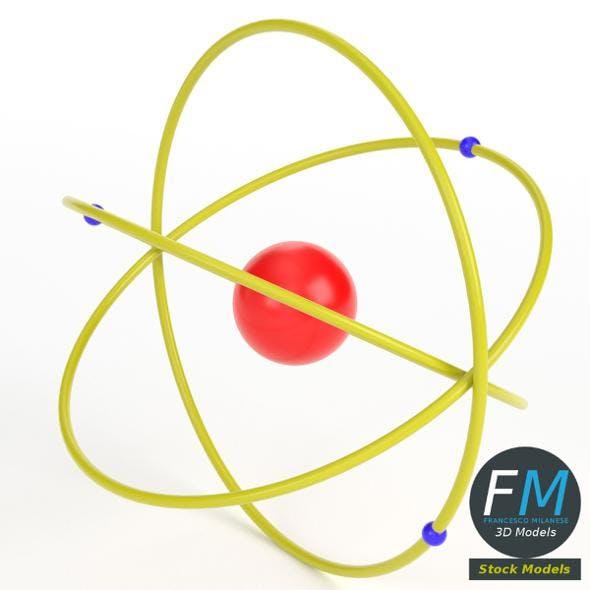 Very simplistic atom model - 3DOcean Item for Sale