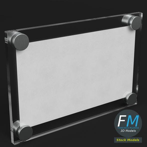 Wall mounted glass plate mockup