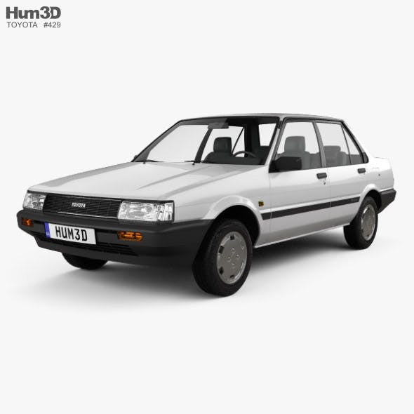 Toyota Corolla sedan 1983 - 3DOcean Item for Sale