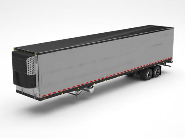 Truck container - 3DOcean Item for Sale