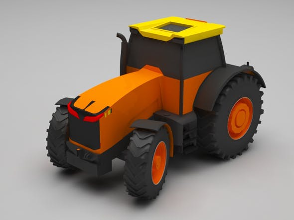 Tractor lowpoly - 3DOcean Item for Sale
