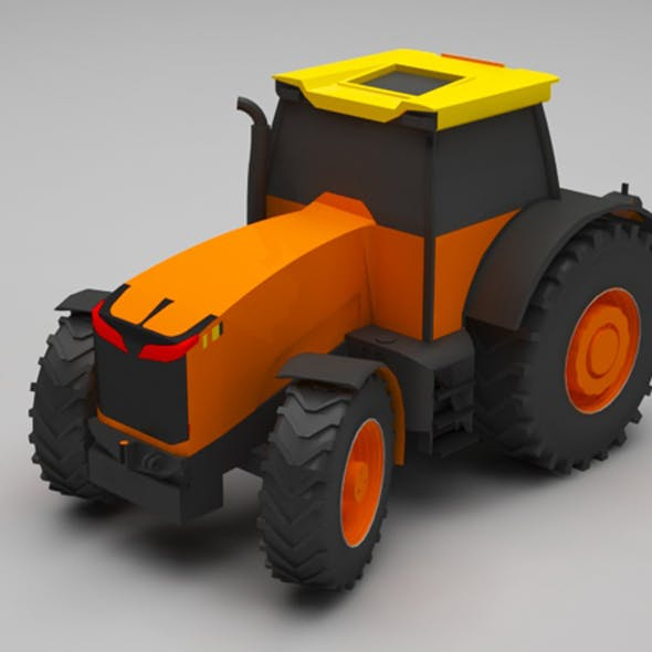 Tractor lowpoly