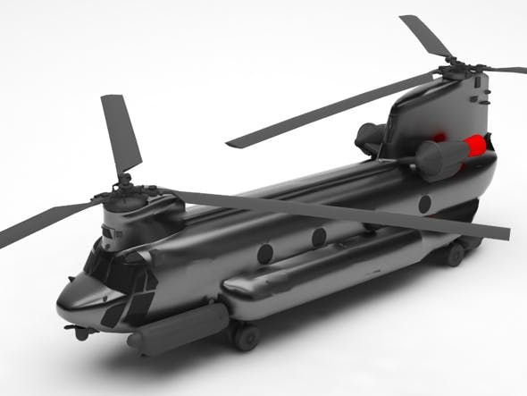 Military helicopter - 3DOcean Item for Sale