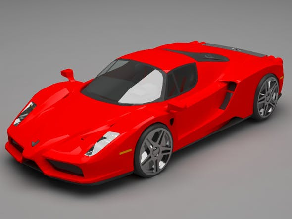 Ferrari lowpoly - 3DOcean Item for Sale