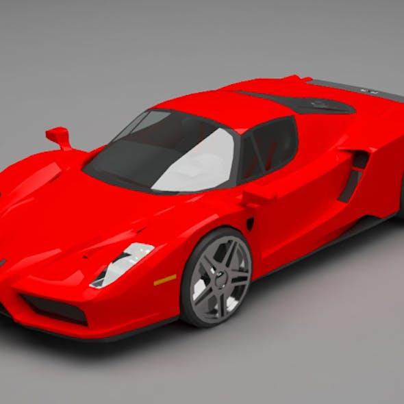 Ferrari lowpoly