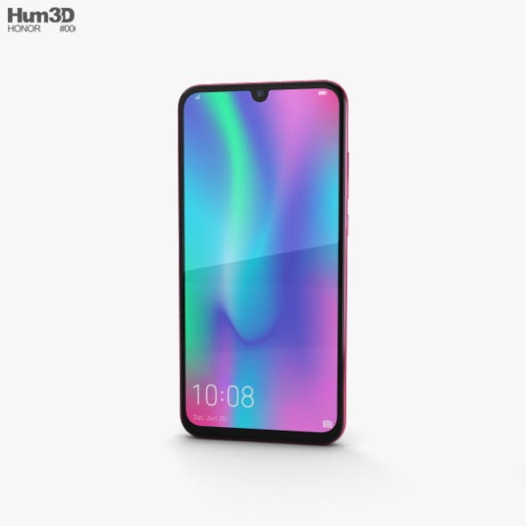 Honor 10 Lite Red - 3DOcean Item for Sale