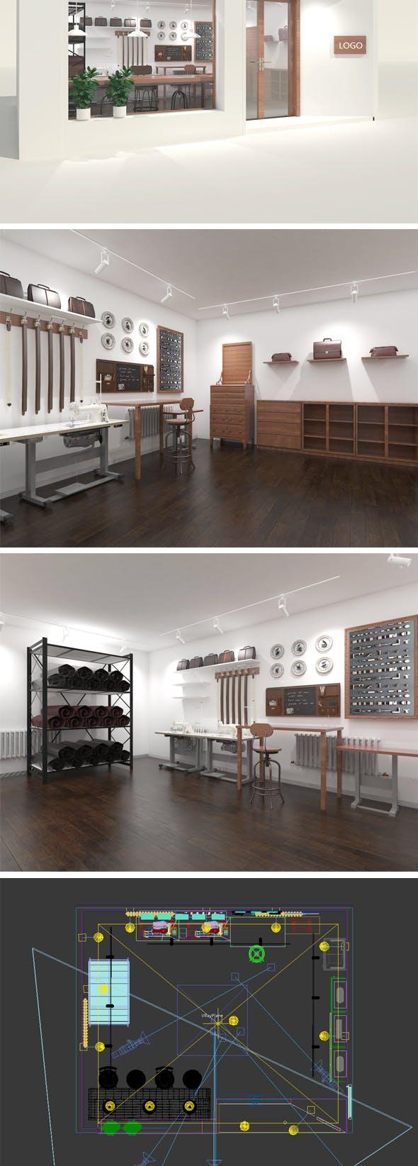 leather workshop - 3DOcean Item for Sale