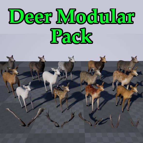 Deer Modular Pack - 3DOcean Item for Sale